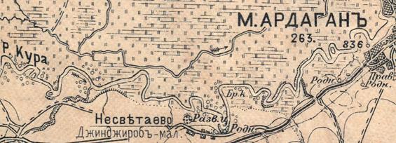 პატარა ჭინჭრობის ეკლესიის რუკა