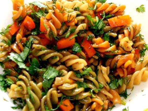 მაკარონის სალათი სტაფილოთი