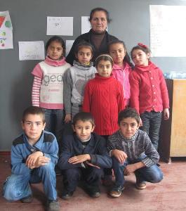 სოფელ ოროზმანის სკოლის მოსწავლეები