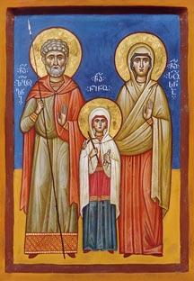 ღირსი ზაბულონი და სოსანა, წმიდა მოციქულთასწორი ნინოს მშობლები